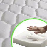 Bed & traagschuim matras grenenhout Corona-stijl 160x200 cm_