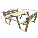 Picknicktafel met 2 banken geïmpregneerd grenenhout_