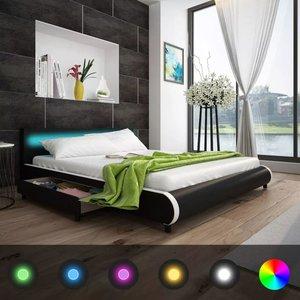 Bed hoofdeinde LED 180 cm + memoryfoammatras