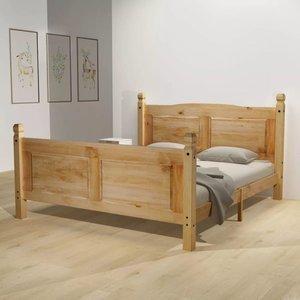Bed & traagschuim matras grenenhout Corona-stijl 160x200 cm