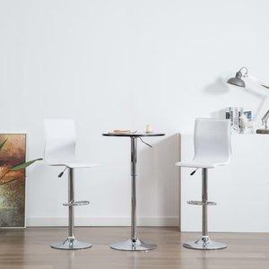 Barstoelen kunstleer wit 2 st