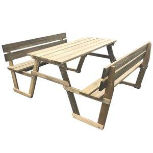 Picknicktafel met 2 banken geïmpregneerd grenenhout